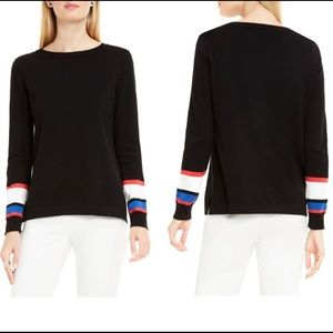 Vince Camuto Rich Black Sweater Pullover Style SzS